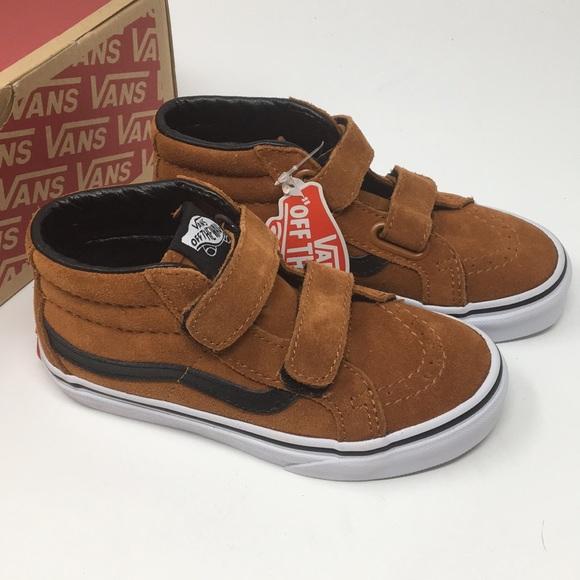 794a180031 VANS SK8 Mid Reissue V Brown Shoes Size 12.5 Kids